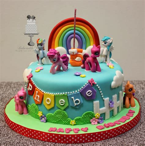 Minecraft Home Decorations by Delectable Delites My Little Pony Cake For Phoebe S 5th