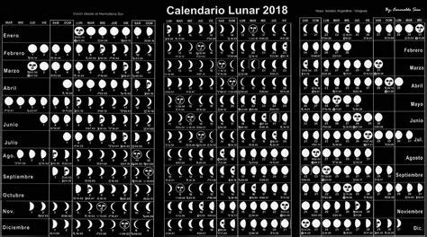 calendario lunar esplaobs calendario lunar 2018