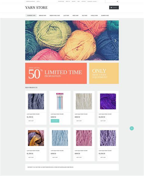 Handiwork Yarn Virtuemart Template 50694 Yarn Website Template