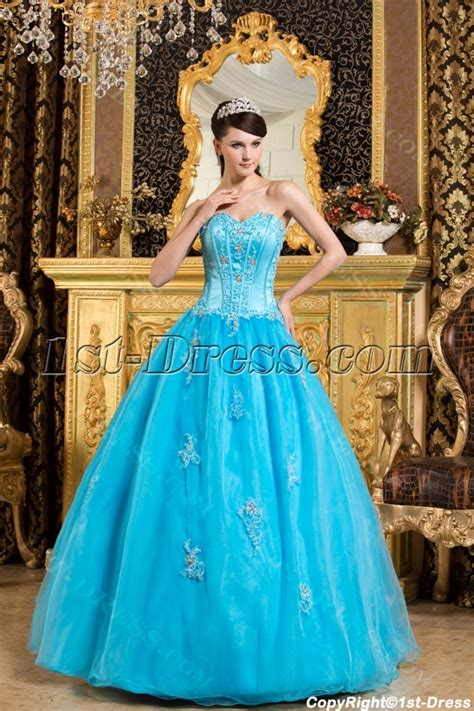Traditional Turquoise Blue Cheap Bat Mitzvah Dresses:1st dress.com