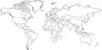 World Map Outline by Pics Photos World Map Political Blank Outline