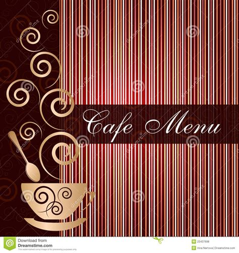 Cafe Templates by Template Of A Cafe Menu Royalty Free Stock Photos Image