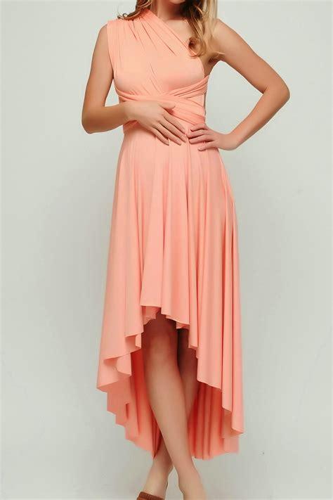 Salmon Dress salmon high low infinity dress bridesmaid dress hl 40