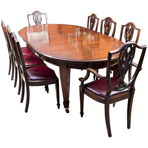 Edwardian Dining Table And Chairs Antique Edwardian Dining Table With Eight Chairs Circa 1900 For Sale At 1stdibs