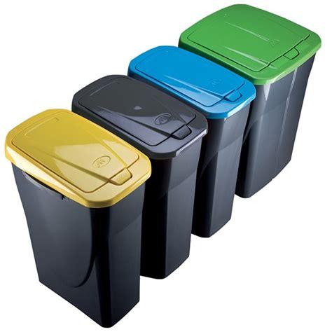 poubelle de tri cuisine poubelle de tri s 233 lectif cuisine 25 litres couvercle jaune