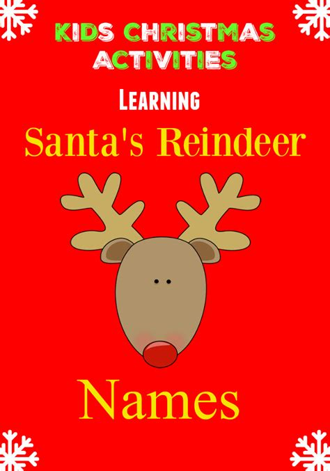 who will be pulling santa s sleigh learning reindeer names
