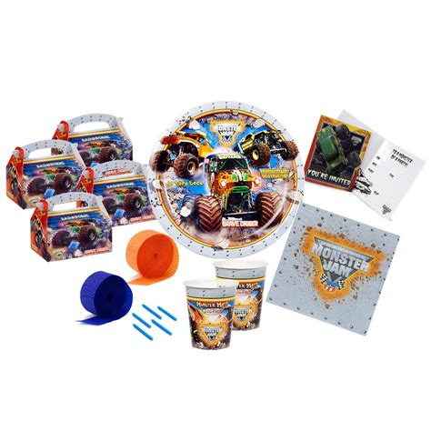 monster jam truck party supplies monster jam truck 3d party pack monster jam truck party pack