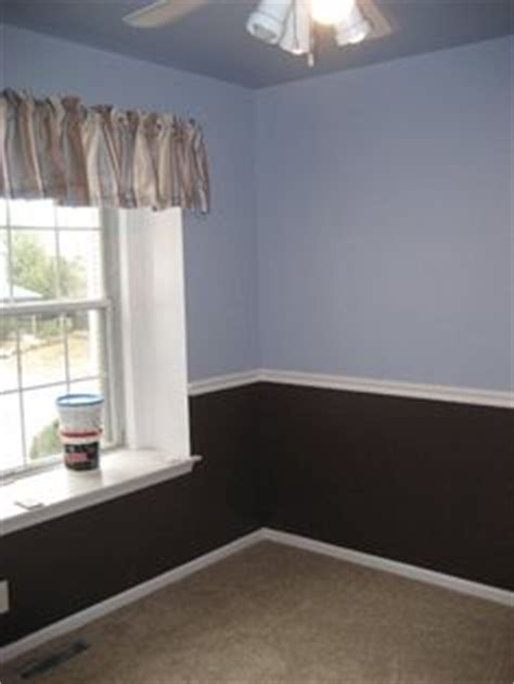 blue chair rail basement on behr paint dining rooms and behr