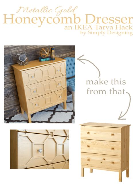 Ikea Hack Dresser by Metallic Gold Honeycomb Dresser An Ikea Tarva Hack Giveaway