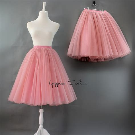 quality 7 layers 65cm maxi tulle skirt