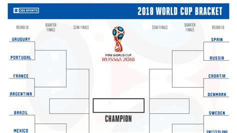 World Cup Printable Bracket 2018