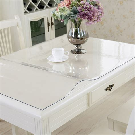 Clear Kitchen Table 100x100cm Waterproof Clear Pvc Tablecloth Protector Table Linens Cover Cloth Home Dining Table
