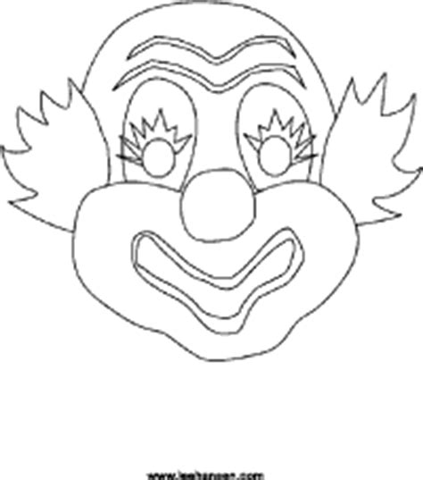 circus clown mask coloring craft