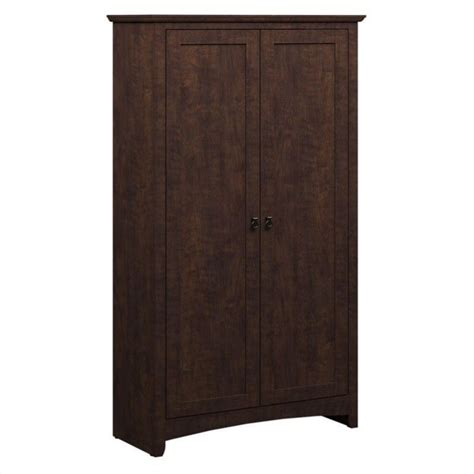 Sears Outdoor Furniture Cushions - bush buena vista 2 door tall storage cabinet in madison cherry my13897 03