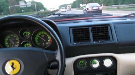 f355 acceleration f 355 gts beschleunigung autobahn cockpit