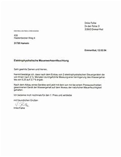 Mit Freundlichen Grüßen Und Verbleibe Wohnhaus Emmerthal Referenzen 9 Bis 16 Referenzen Mauertrockenlegung Mauerentfeuchtung
