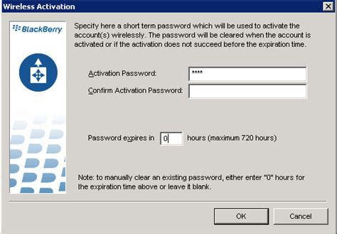 reset blackberry password without recovery question how to set or clear blackberry enterprise activation password