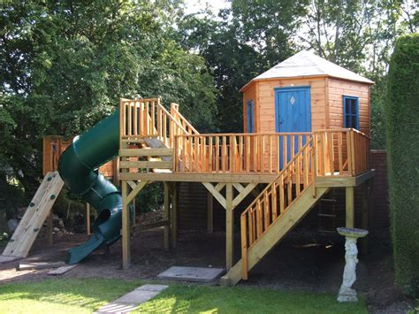 swing set playhouse plans raised hexagonal treehouse treehouses the playhouse