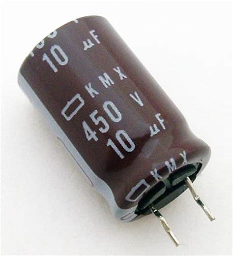 capacitor code for 10uf 10uf 450v radial electrolytic capacitor united chemi con kmx450vb10mmc