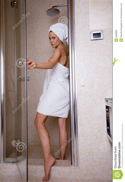 Gets Shower by At The Shower Stock Photography Image 2568202