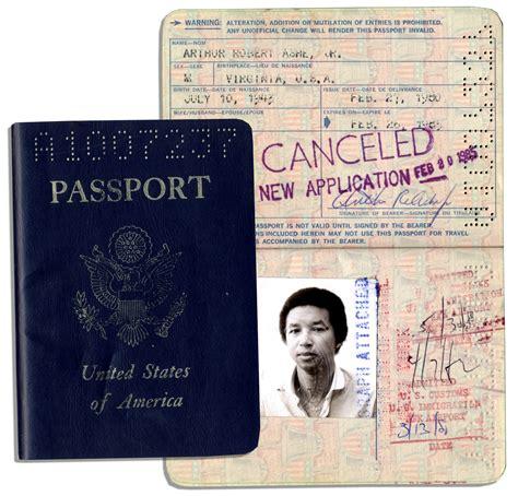 u s passport lot detail arthur ashe s 1980 85 u s passport with