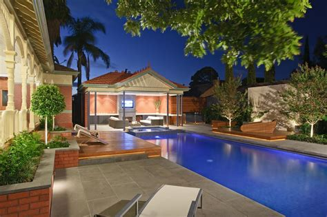 modern alfresco pool area of a heritage house in park street by cos design melbourne 09