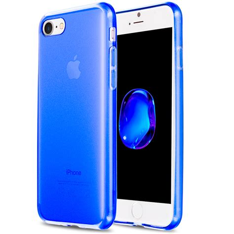 blue tpu rubber cover for apple iphone 7