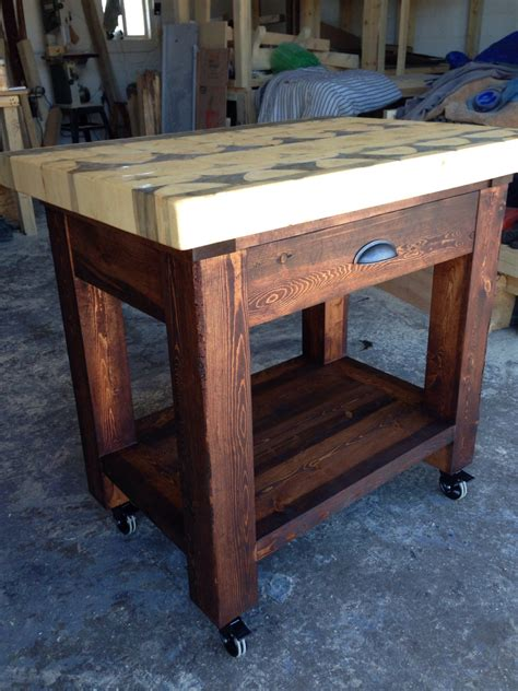 kitchen island with butcher block top kitchen island with butcher block top handcrafted from