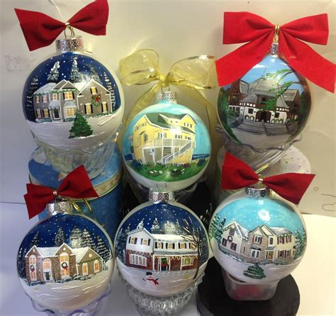 painted house christmas ornament custom