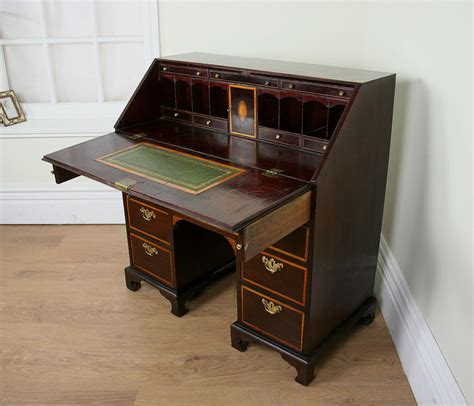 Antique Desk Ireland by Inlaid Mahogany George Iii Bureau C 1760