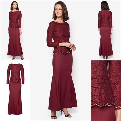 Baju Kurung Style Terkini baju kurung moden lace minimalis baju raya 2016 fesyen trend terkini fesyen trend terkini
