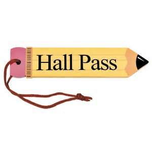 hallway pass drive them to think give your teachers a hall pass