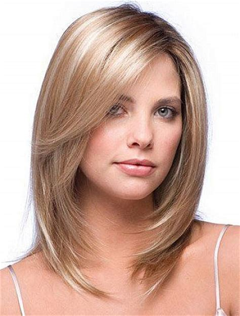 Hairstyles With Layers by Bob Haircuts For Shoulder Length Hair With Side Bangs And