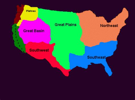 american tribe map by regions american indian regions thinglink