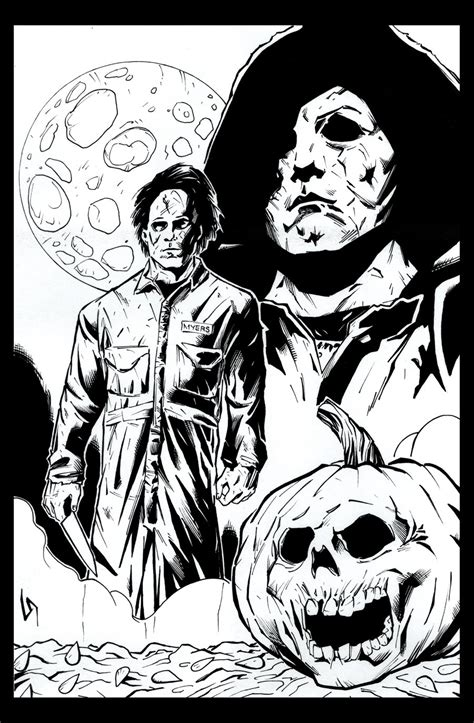 Michael Myers By Tollbooth10 On Deviantart Michael Myers Coloring Pages