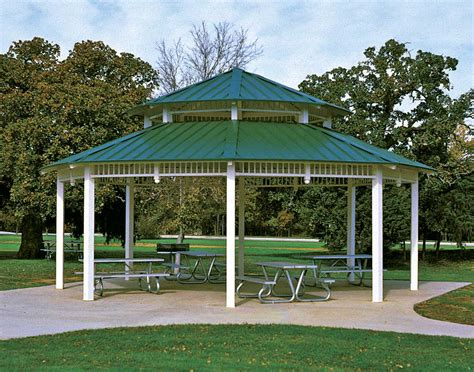 Metall Pavillon by All Steel Roof Santa Fe Octagon Pavilions