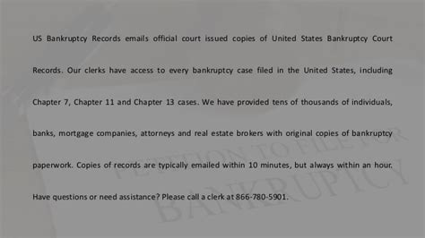 Us Bankruptcy Search Bankruptcy Papers Us Bankruptcy Records