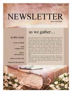 Christian Newsletter Templates by Mission Update Newsletter Template Template Newsletter