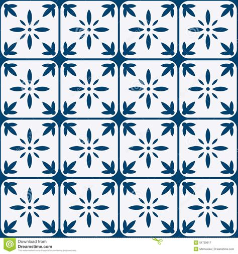 holland pattern stock blue and white delft pattern stock vector image 51759617