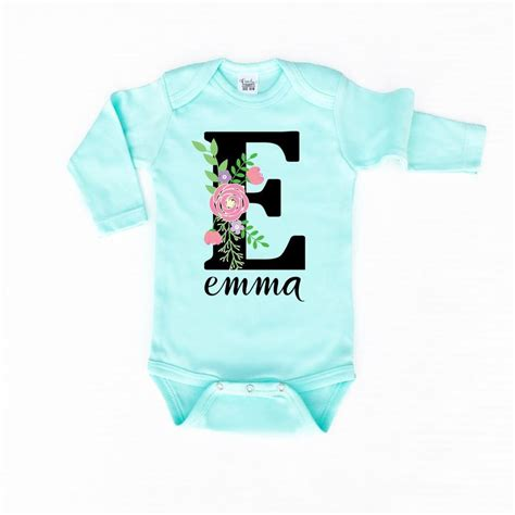 baby girl clothes personalized onesie custom baby