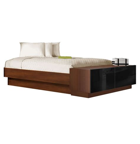 platform bed queen with storage queen size platform bed with storage footboard contempo