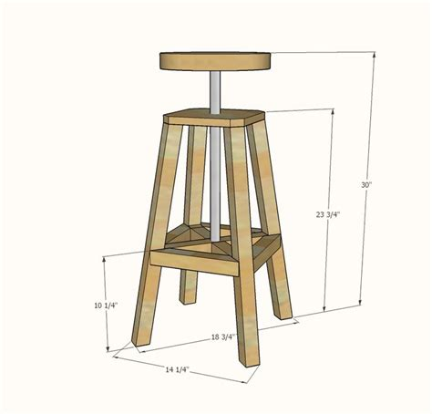wooden bar stool plans  woodworking projects plans