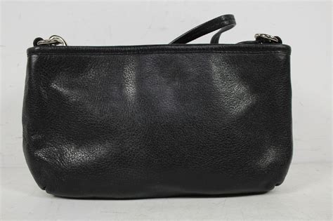 clutch purse templates coach black pebbled leather clutch purse shoulder bag ebay