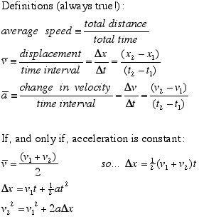 Physics Kinematics Equations Worksheet