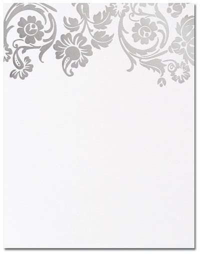 Wilton Ms Word Templates Silver Border Place Cards by Flat Cards Silver Damask Flat Cards