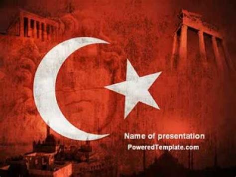 Turkey Powerpoint Template By Poweredtemplate Com Youtube Turkey Powerpoint Template