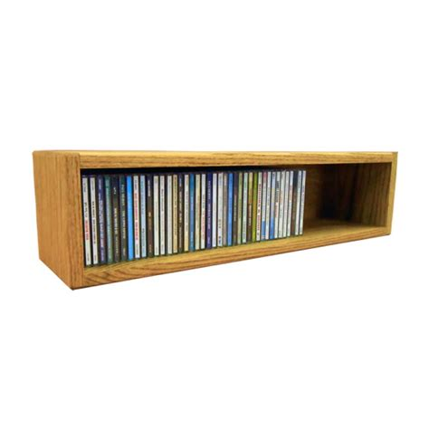 Cd Storage | wood shed solid oak cd storage rack 62 cd capacity 103 2