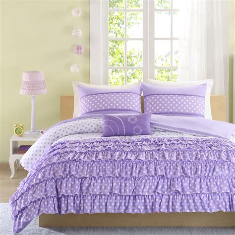 full xl comforter sets romantic puple lavender ruffle bedding twin full queen xl