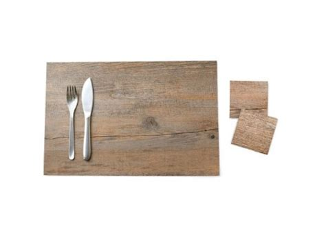 Wood Disk Placemat It Or It 2 by Table Linens Better Living Through Design