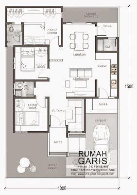 denah rumah tipe   lahan  meter rumah asik   house design home building